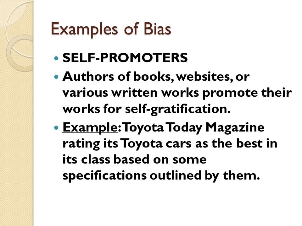 Detecting Bias On The Internet Finding A One Sided Or Slanted Point
