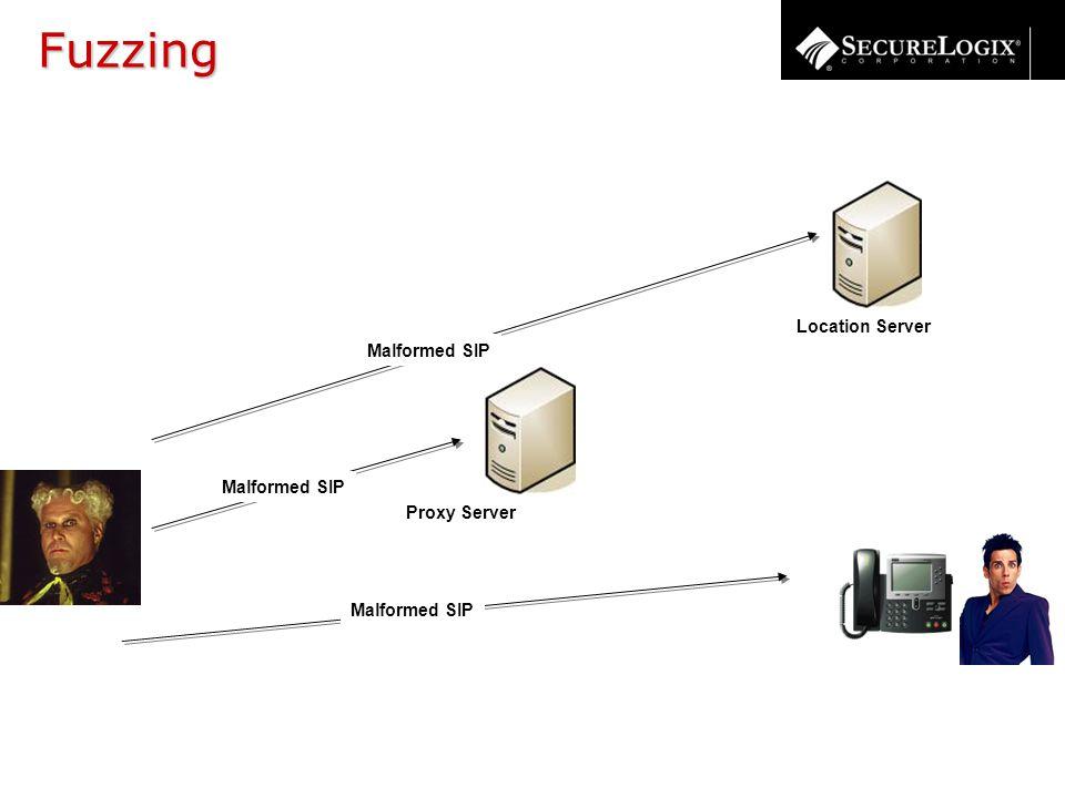 Proxy Server Location Server Malformed SIP Fuzzing