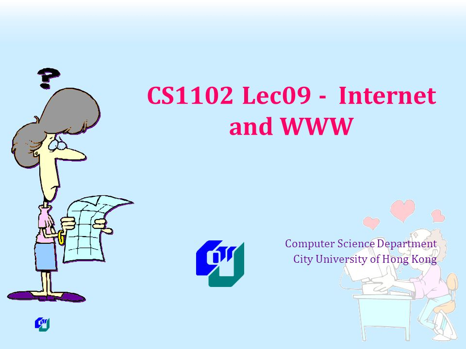 Jean Wang / CS1102 - Lec09 2 Objectives Describe the TCP/IP protocol, and how router works Discover the relationship between IP addresses and domain names, and how DNS works Identify today s popular Internet services Discuss in details how browsers work and identify the components of a Web address (URL) Explain how cookies could help with user preference or browsing interests Describe how email and instant-messaging work