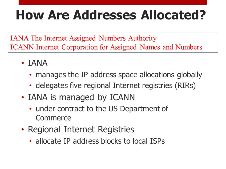 How Are Addresses Allocated.