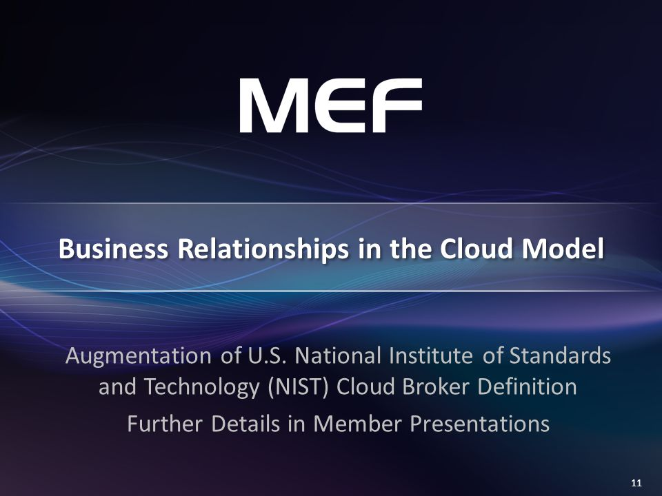 11 Business Relationships in the Cloud Model Augmentation of U.S.