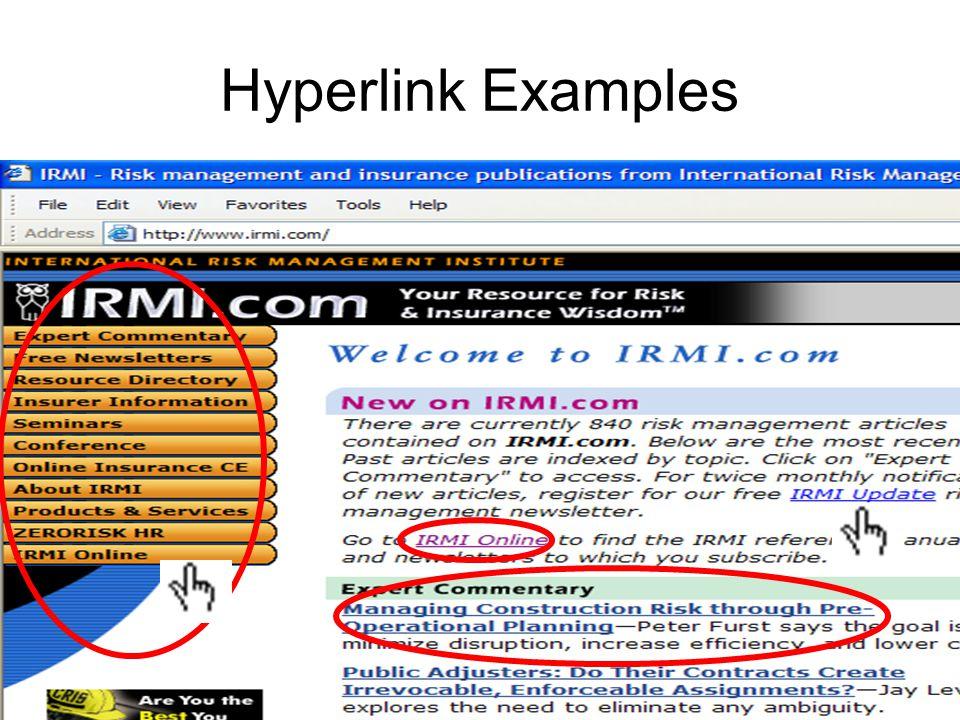 Hyperlink Examples