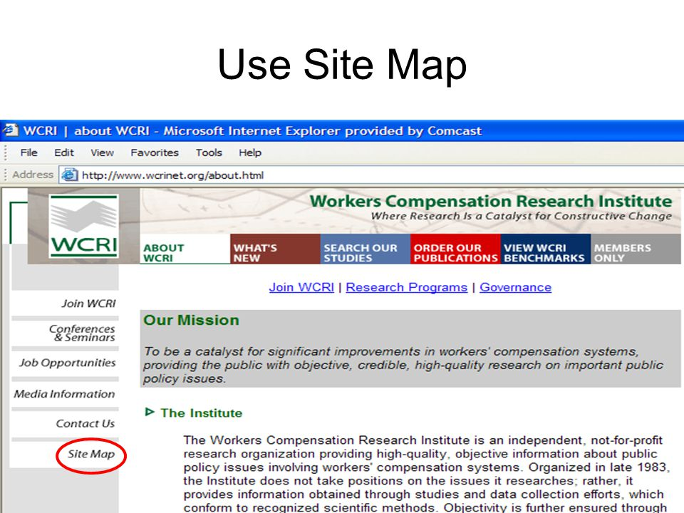Use Site Map