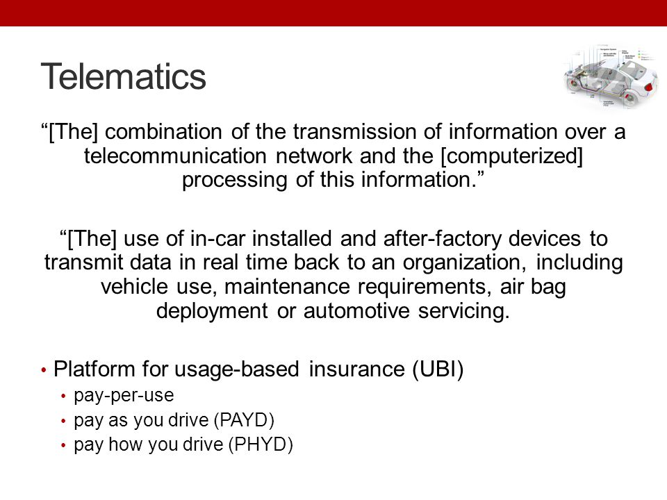 Telematics [The] combination of the transmission of information over a telecommunication network and the [computerized] processing of this information