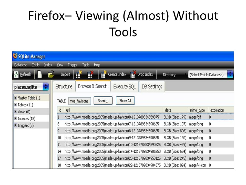 Firefox– Viewing (Almost) Without Tools
