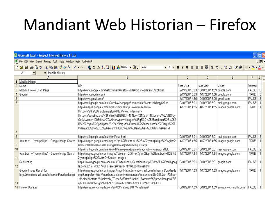 Mandiant Web Historian – Firefox