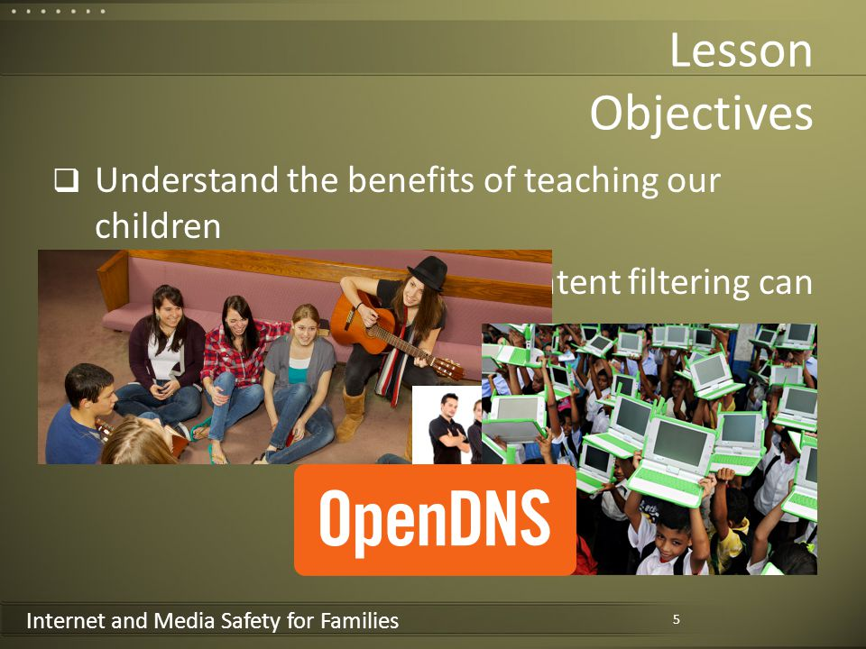 Internet and Media Safety for Families Parents must teach children honesty and respect for others property 16