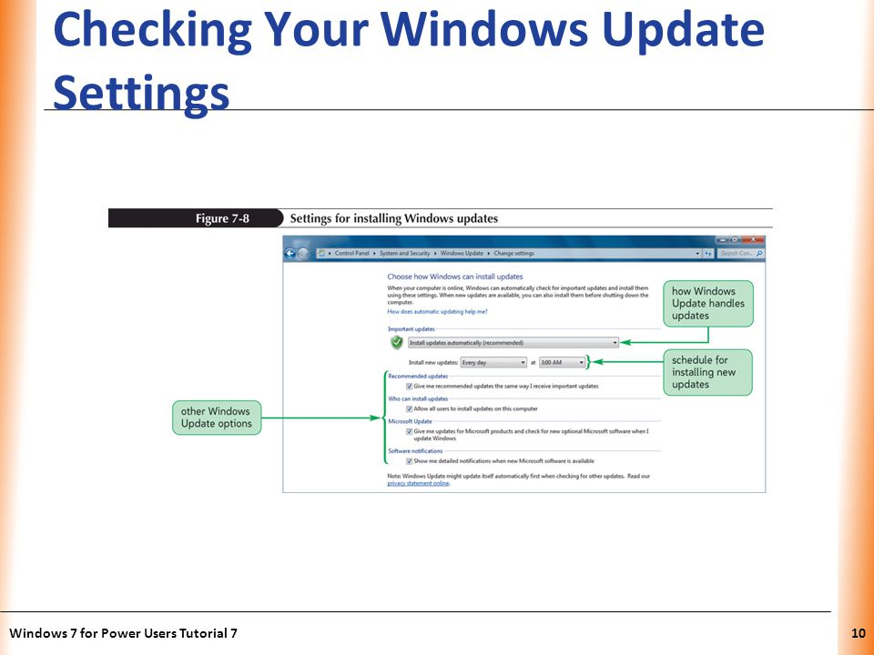 XP Checking Your Windows Update Settings Windows 7 for Power Users Tutorial 710