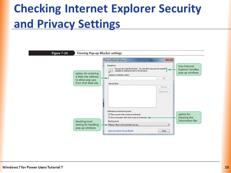 XP Checking Internet Explorer Security and Privacy Settings Windows 7 for Power Users Tutorial 723