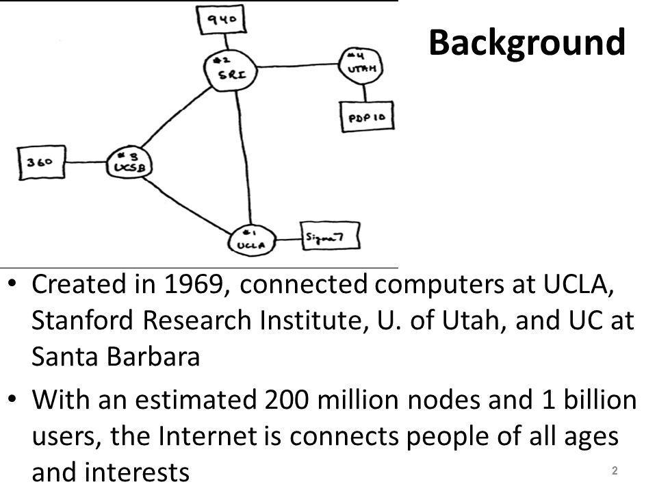 Internet Infrastructure The Internet is not owned or operated by any single corporation or government The Internet backbone is a network of high-capacity communications links that provides the main routes for data traffic across the Internet Backbone links and routers are maintained by network service providers (NSPs) An Internet service provider (ISP) is a company that offers Internet access to individuals, businesses, and smaller ISPs 3