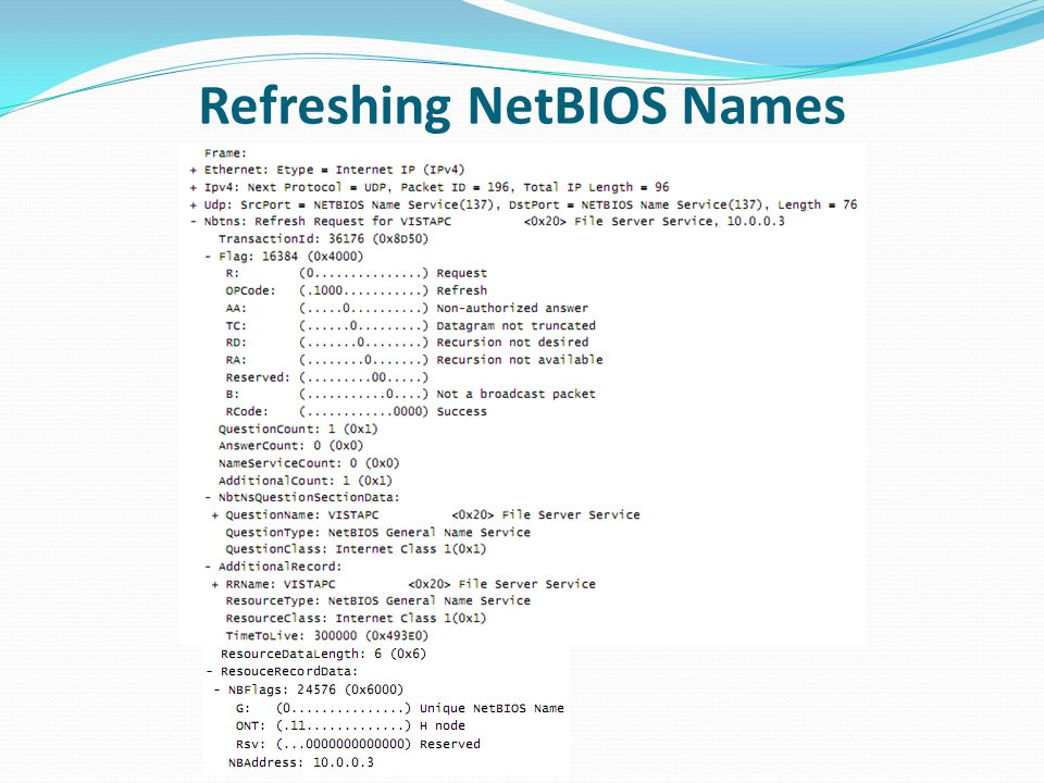 Refreshing NetBIOS Names