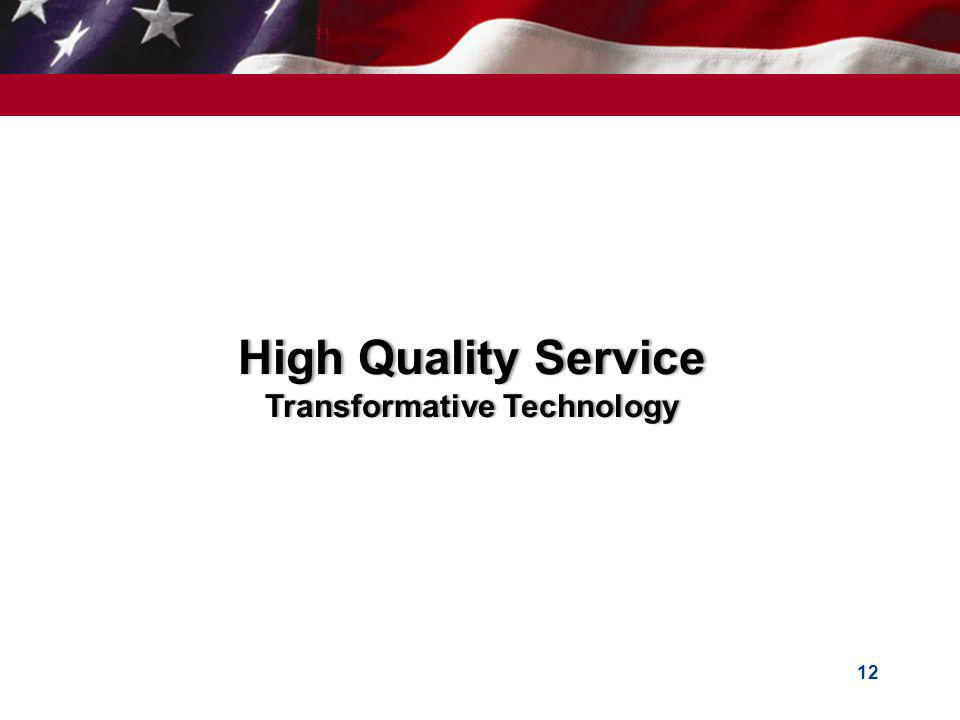 High Quality ServiceHigh Quality Service Transformative TechnologyTransformative Technology 12