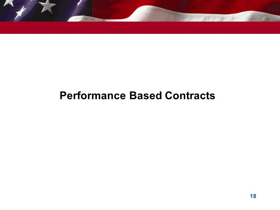 Performance Based Contracts 18