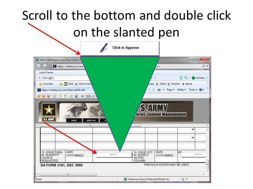 Scroll to the bottom and double click on the slanted pen