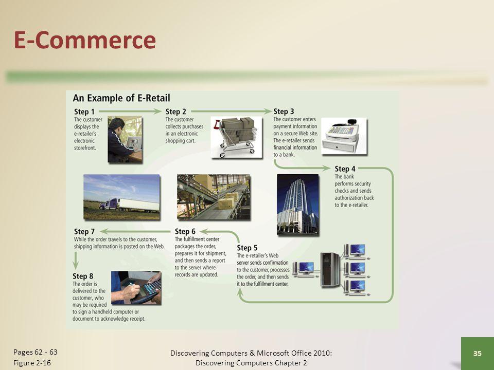 E-Commerce Discovering Computers & Microsoft Office 2010: Discovering Computers Chapter 2 35 Pages 62 - 63 Figure 2-16
