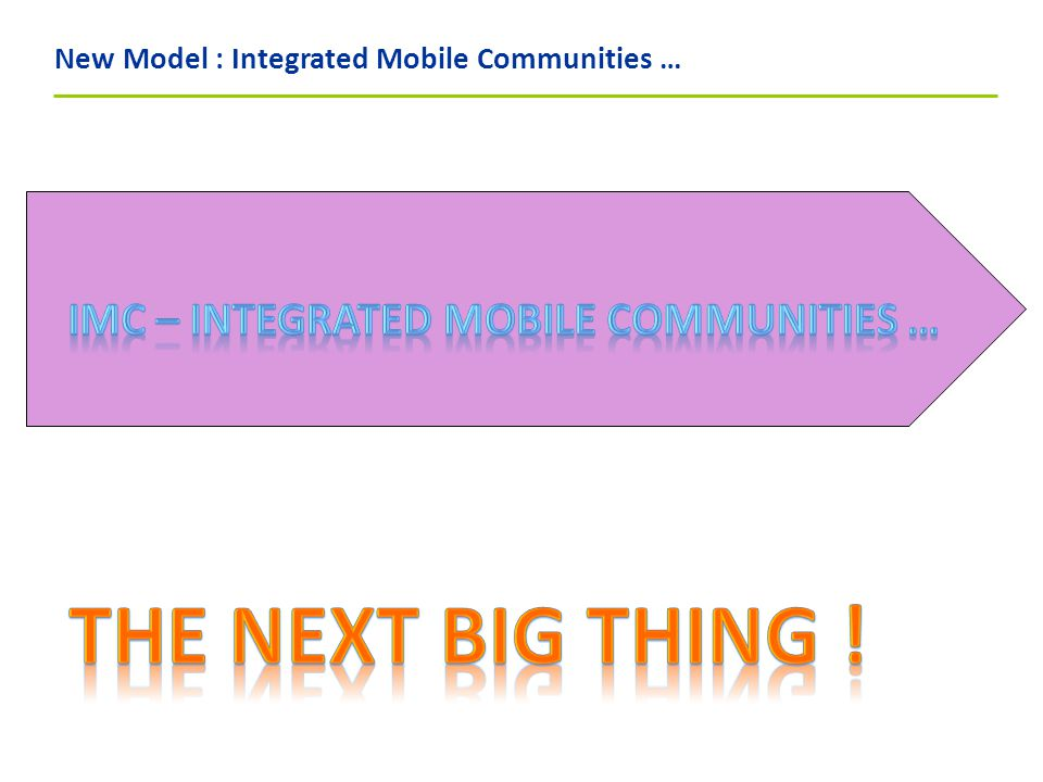 New Model : Integrated Mobile Communities …
