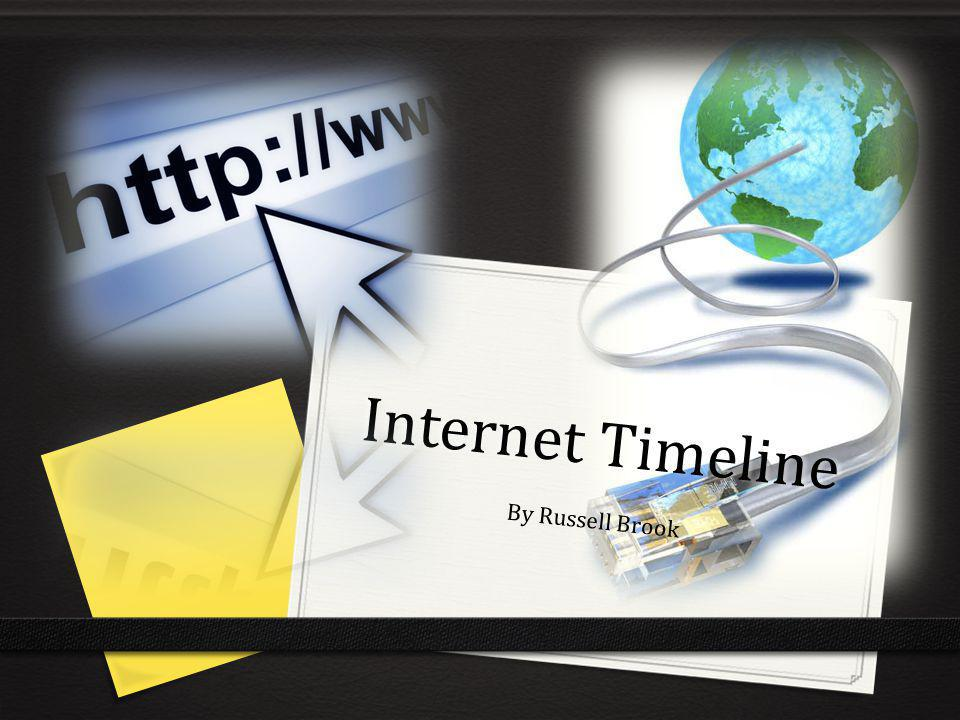 Internet Timeline By Russell Brook