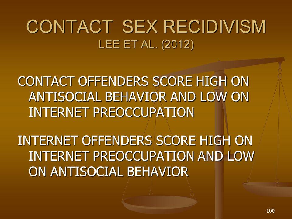 CONTACT SEX RECIDIVISM LEE ET AL.