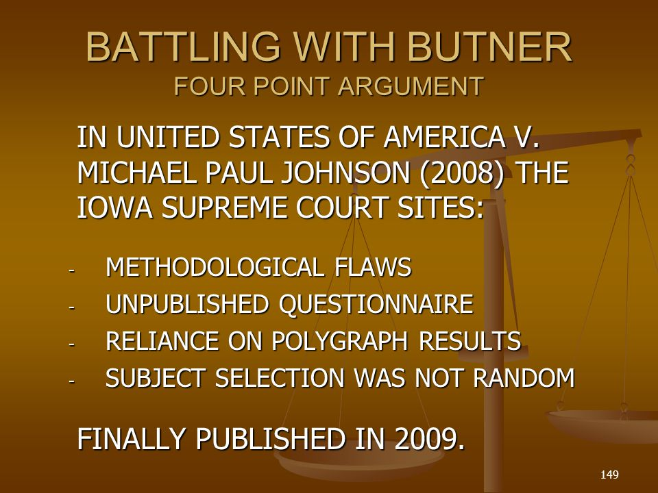 BATTLING WITH BUTNER FOUR POINT ARGUMENT IN UNITED STATES OF AMERICA V.
