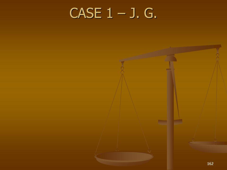 CASE 1 – J. G. 162