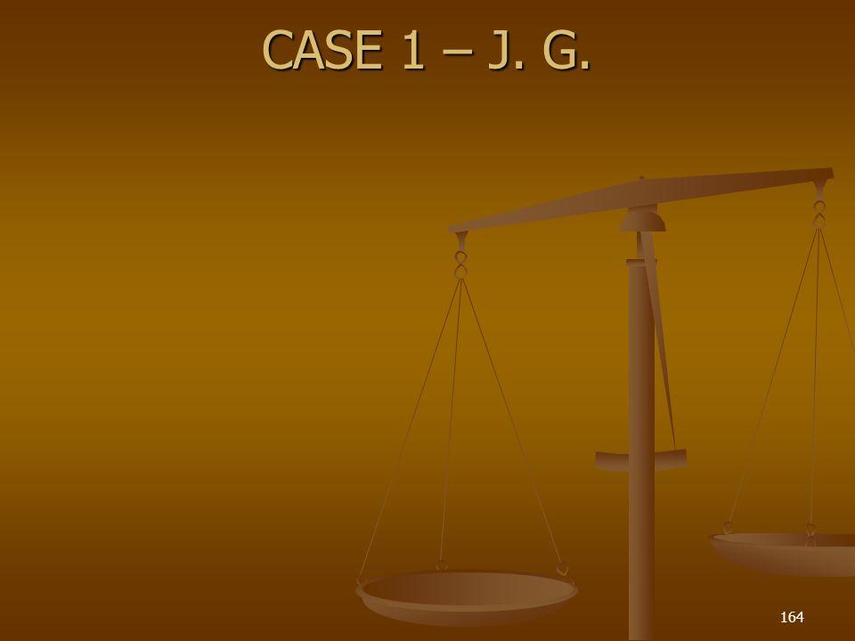 CASE 1 – J. G. 164