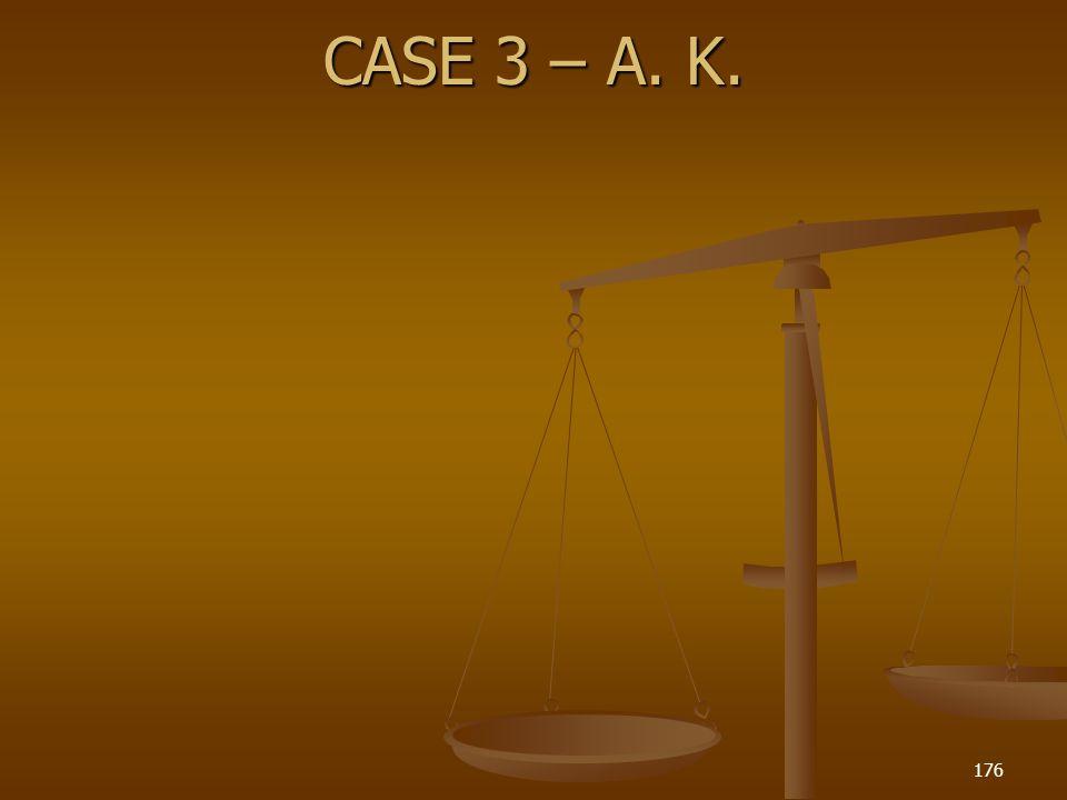 CASE 3 – A. K. 176