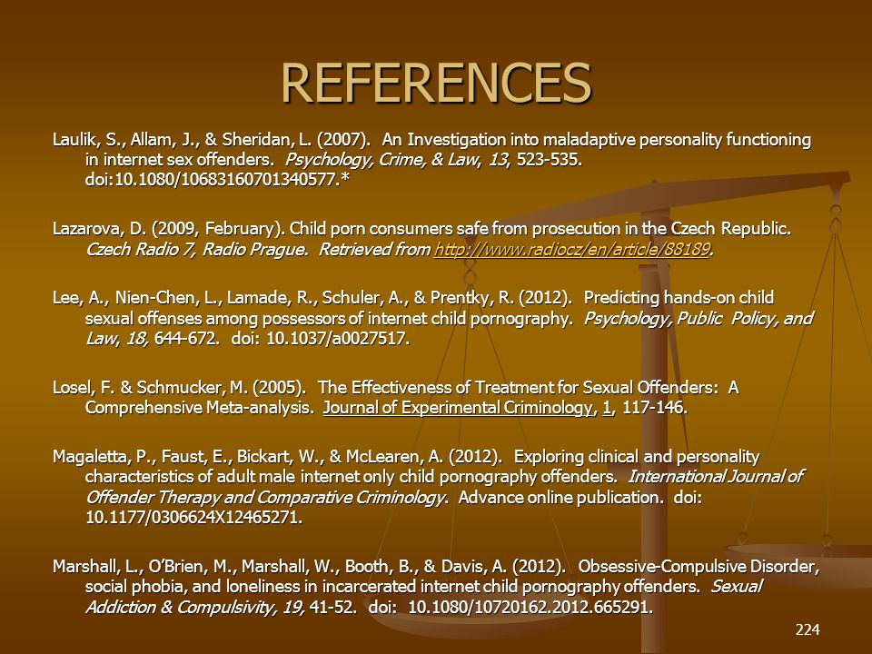 REFERENCES Laulik, S., Allam, J., & Sheridan, L.(2007).