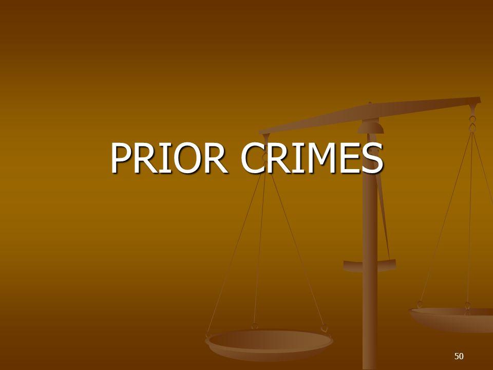 PRIOR CRIMES 50