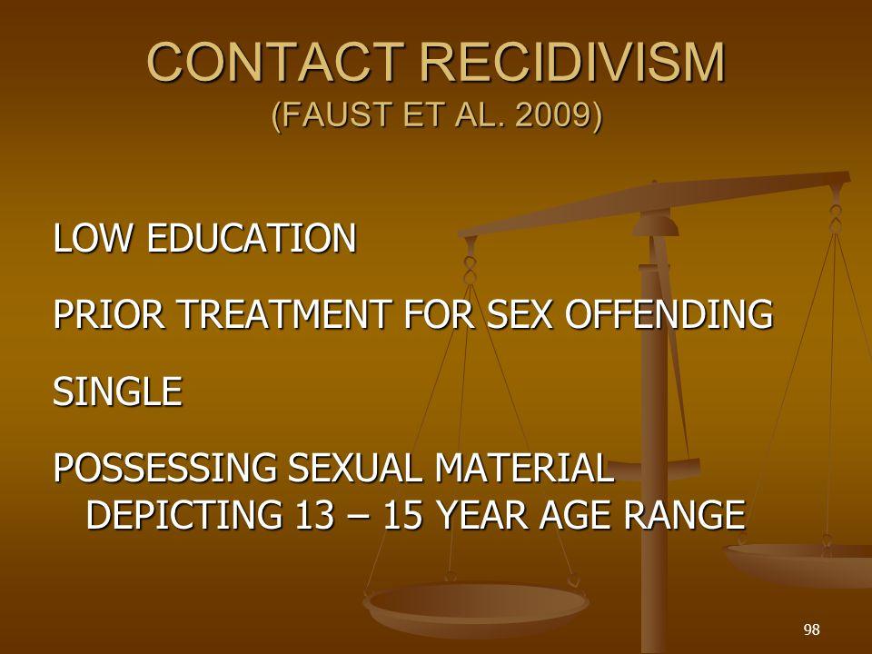 CONTACT RECIDIVISM (FAUST ET AL.
