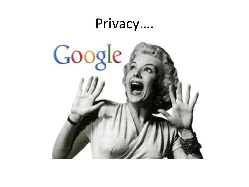 Privacy….