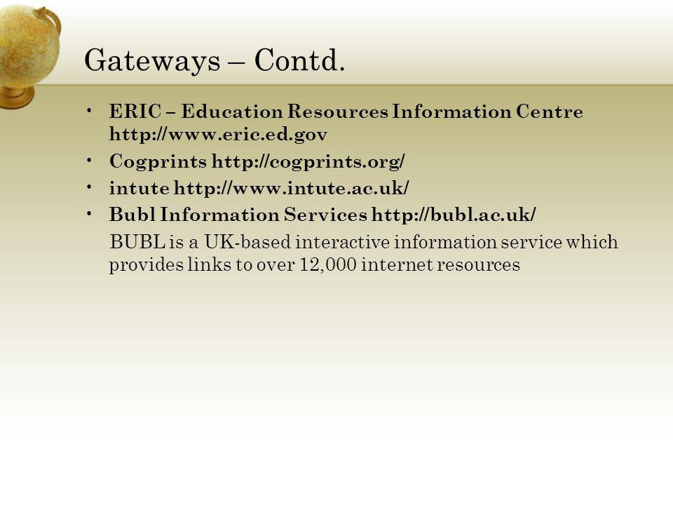 Gateways – Contd.