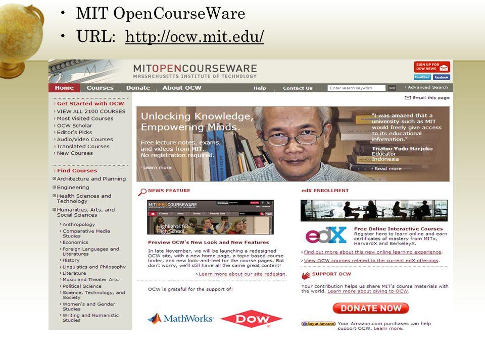 MIT OpenCourseWare URL: http://ocw.mit.edu/