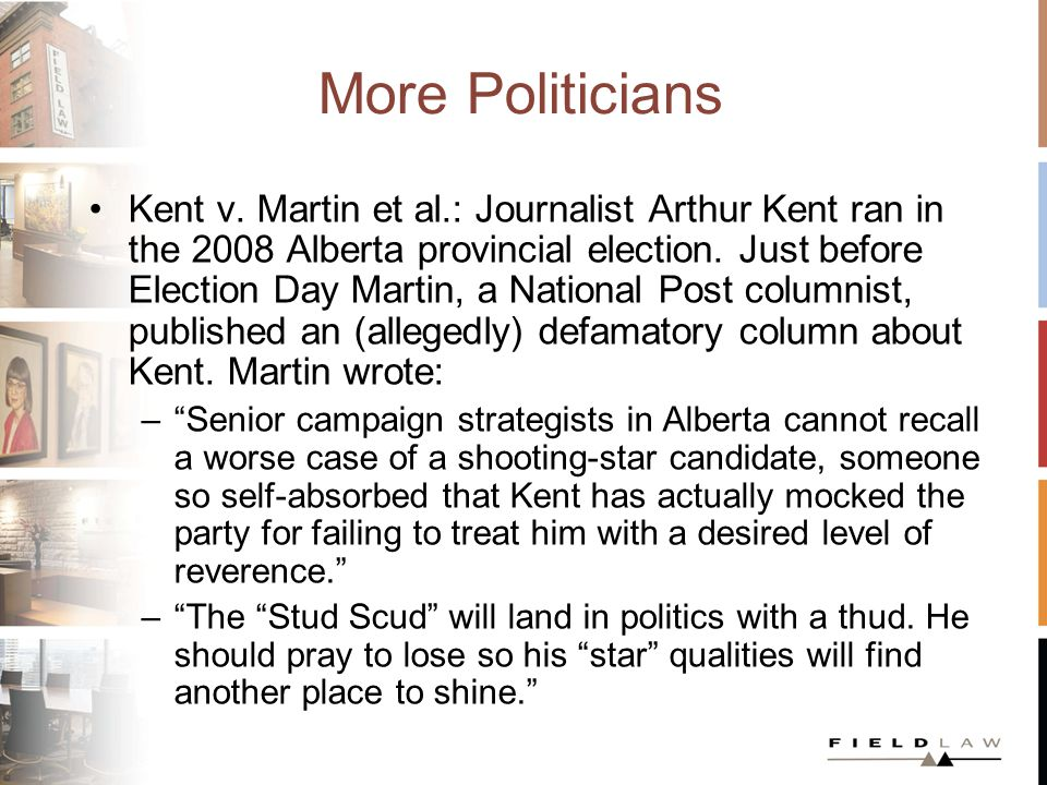 More Politicians Kent v.