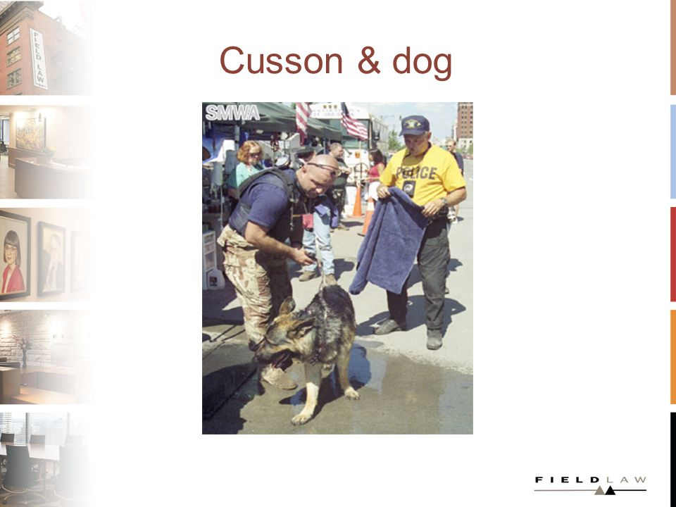 Cusson & dog