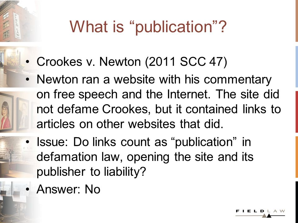 What is publication. Crookes v.