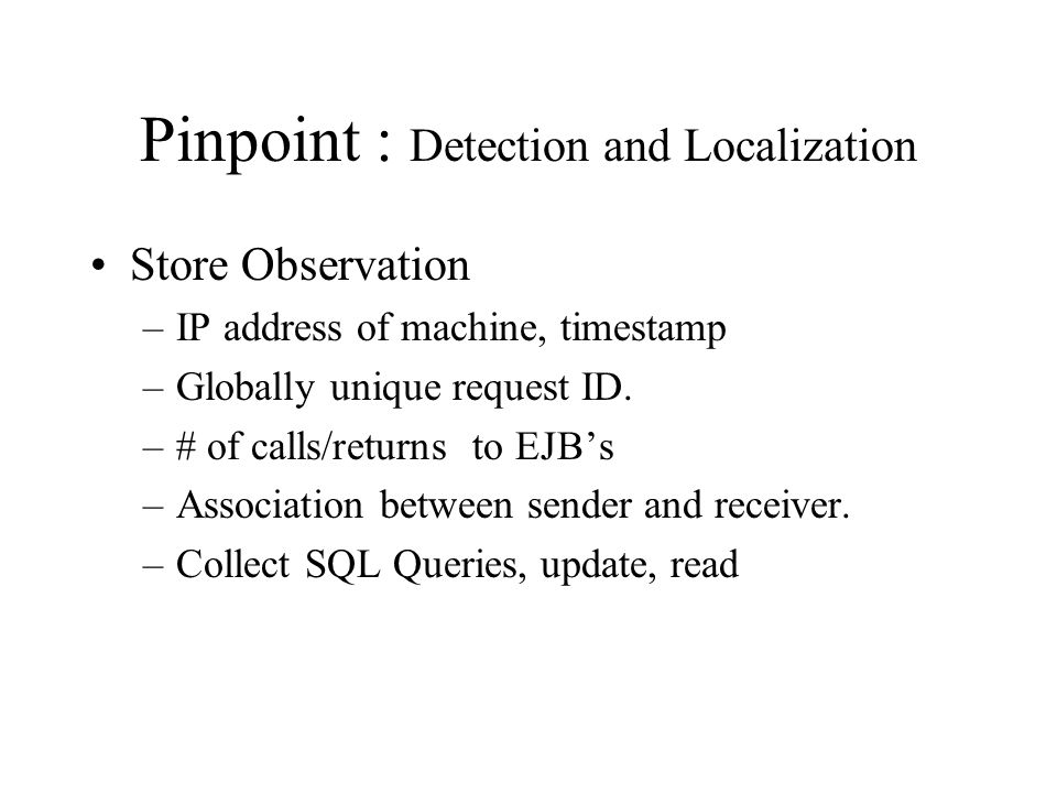 Pinpoint is app generic .
