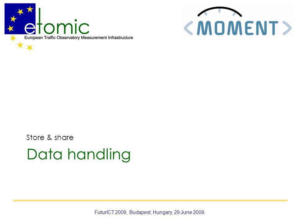 Data handling Store & share FuturICT 2009, Budapest, Hungary, 29 June 2009.