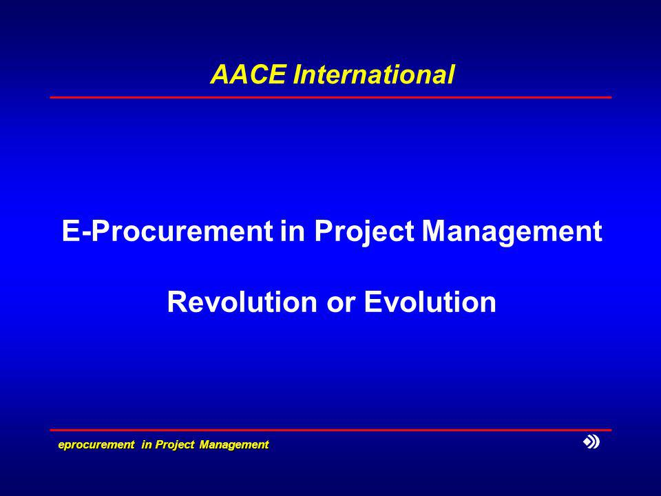 eprocurement in Project Management What is e-procurement Electronic procurement (e-procurement) is the acquisition of goods, materials and services using the Internet to source bidders, transmit criteria, request pricing, and commit and track orders.