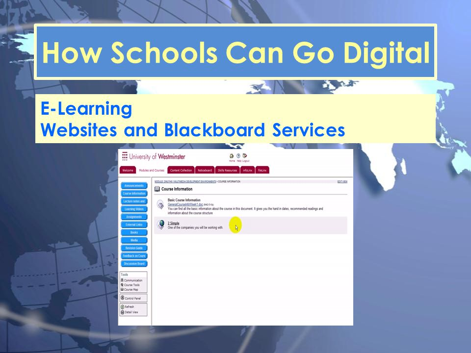 How Schools Can Go Digital E-Learning Websites and Blackboard Services
