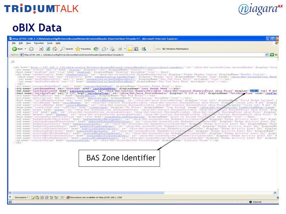 18 oBIX Data BAS Zone Identifier