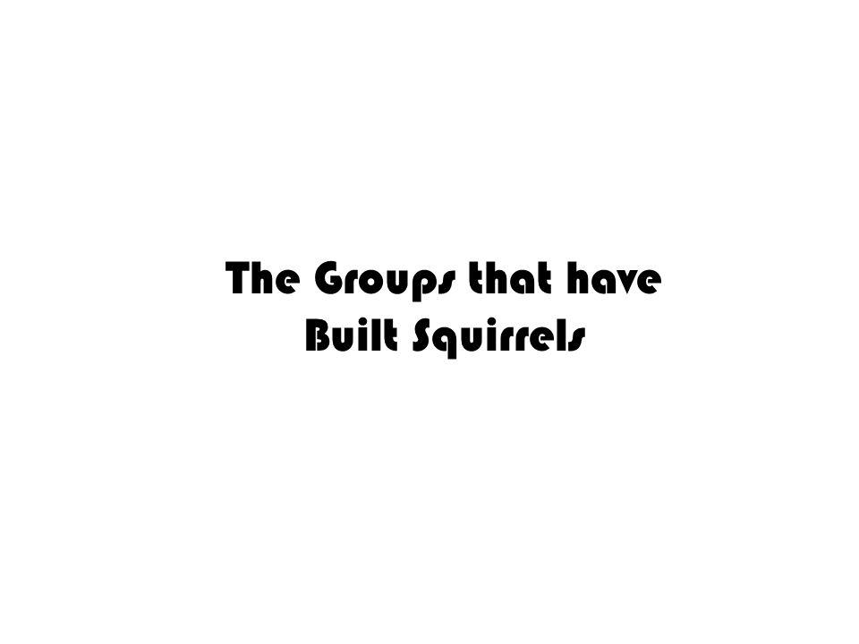 The Groups that have Built Squirrels