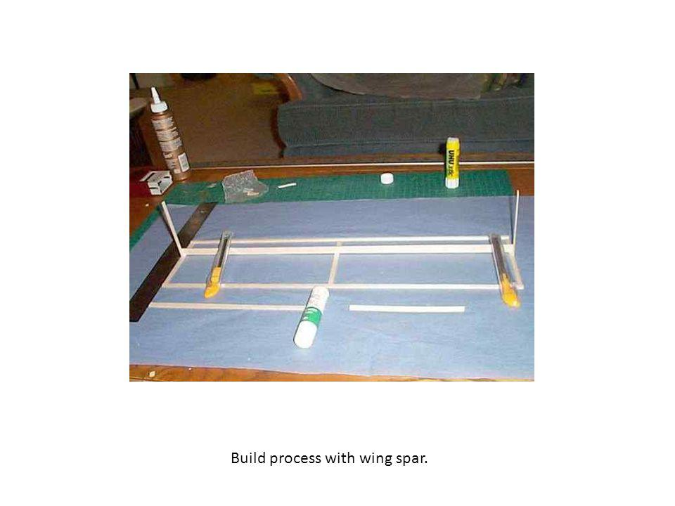 Build process with wing spar.