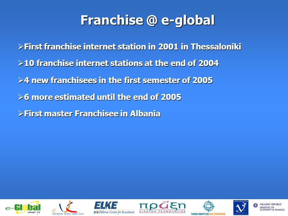 fghfghfghfgj Franchise @ e-global First franchise internet station in 2001 in Thessaloniki First franchise internet station in 2001 in Thessaloniki 10