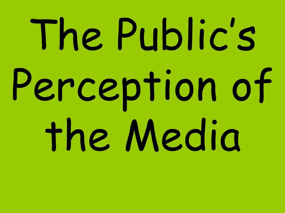 The Publics Perception of the Media