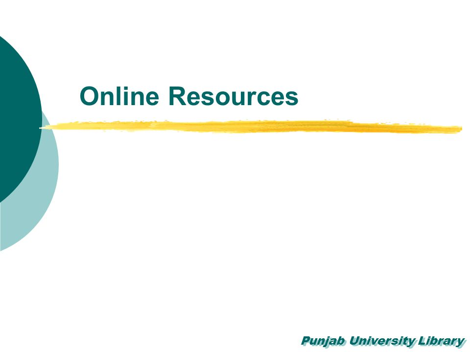 Punjab University Library Online Resources