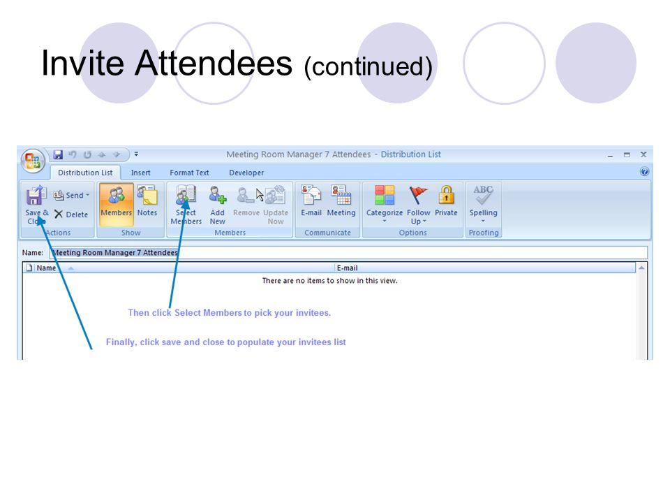 Invite Attendees
