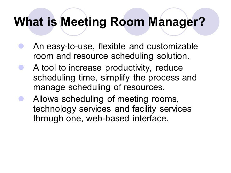 Find Reservations To find meetings already scheduled, click Meetings.