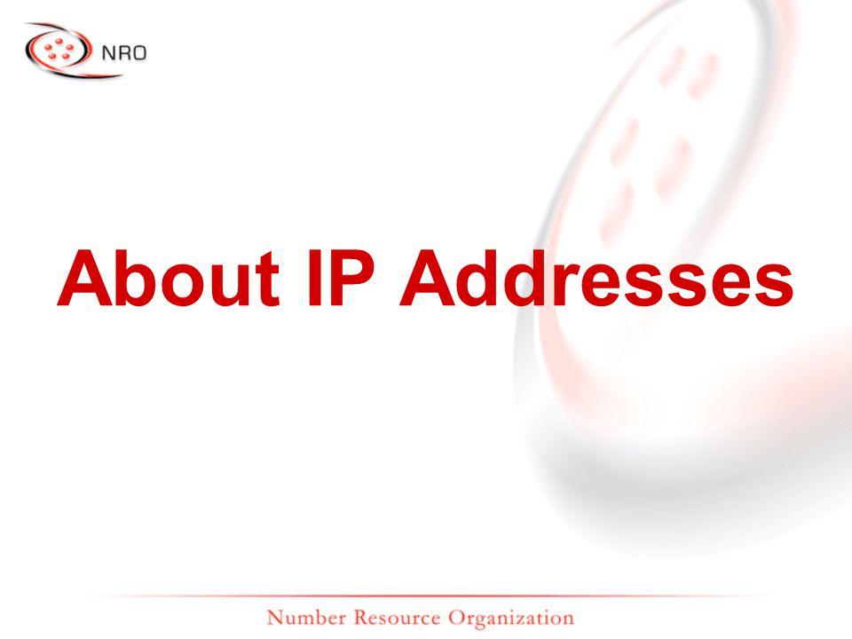 193.0.0.131 196.216.2.1 192.149.252.7 200.160.2.15 202.12.29.20 192.0.0.214 206.131.253.68 192.0.34.163 www.nro.net www.afrinic.net www.arin.net www.lacnic.net www.apnic.net www.ripe.net www.isoc.org www.icann.org On the Internet, you are nothing but an IP address.