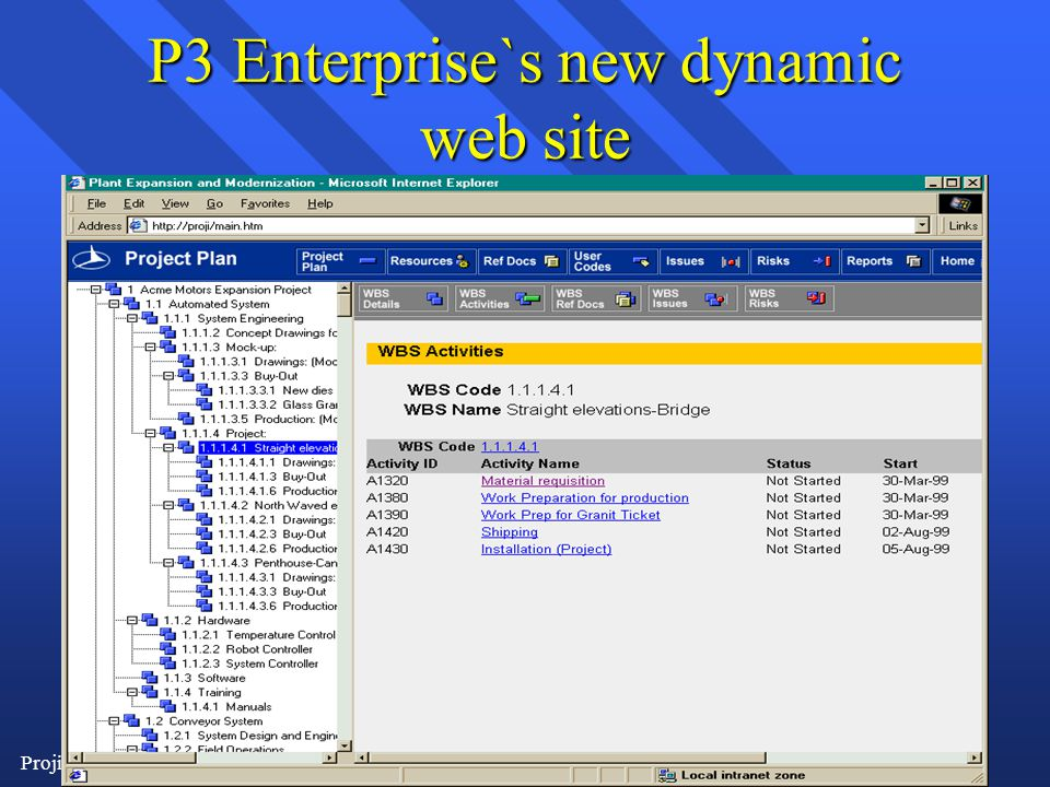 Proji-controle6/1/2014 P3 Enterprise`s new dynamic web site