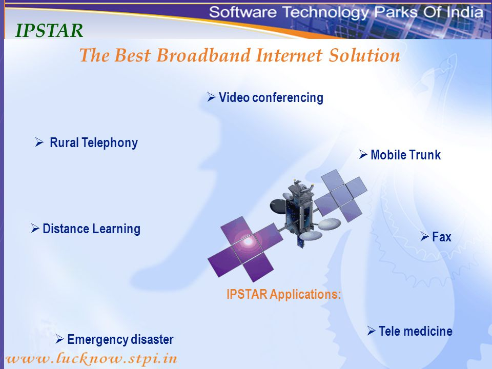 The Best Broadband Internet Solution IPSTAR Key Strengths : Unlimited space.IP star works in business districts,city communities and even in remote areas where telephone service is inaccessible.